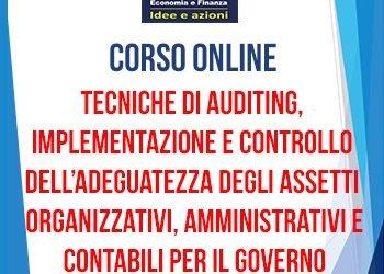 """Corso """"Tecniche di auditing, implementazione e controllo dell'adeguatezza degli assetti organizzativi, amministrativi e contabili per il governo dell'impresa"""""""